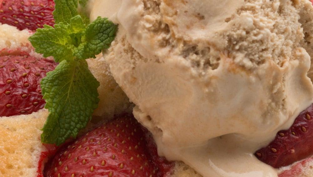 Galletas de fresas con helado