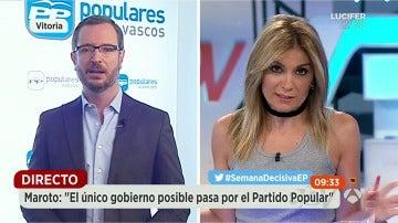 """Maroto: """"Confiamos en que Pedro Sánchez deshoje la margarita y diga qué parte de su discurso es una contradicción"""""""