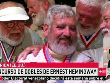 Dave Hemingway se convierte en el doble del escritor Ernest Hemingway en el tradicional concurso de Cayo Hueso