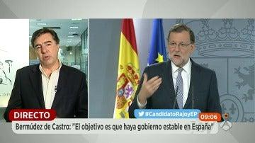 """Bermúdez de Castro: """"Rajoy ha hecho un ejercicio de responsabilidad y sentido de Estado"""""""
