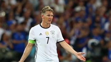 Schweinsteiger en un partido con la Selección Alemana