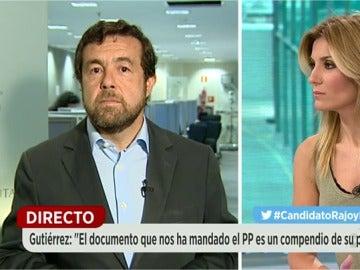 """Miguel Gutiérrez: """"Nosotros nos vamos a quedar en la abstención"""""""