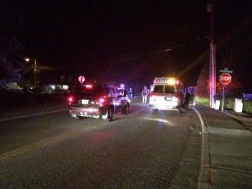 Policía en Mukilteo (Whasington) tras el tiroteo.