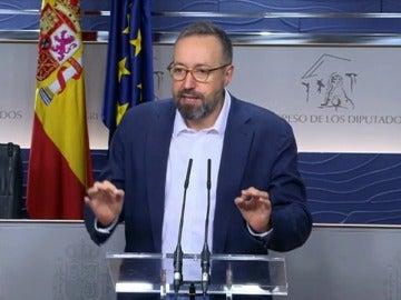 """Frame 35.052932 de: Girauta: """"Muchas de las cosas que vamos a llevar a esta negociación están en el acuerdo de gobierno fallido con el PSOE"""""""