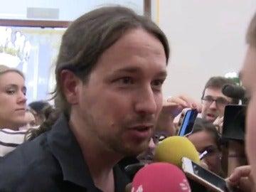 """Pablo Iglesias habla de """"caos"""" en la intervención de Rajoy"""