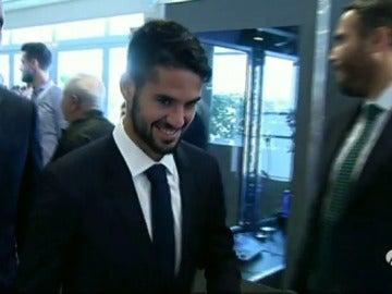 Isco confirma a las cámaras de Atresmedia que se queda en el Real Madrid