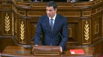 Empieza la intervención de Pedro Sánchez.