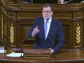 """Rajoy a Sánchez: """"El único que va a pasar a la historia es usted por provocar unas terceras elecciones"""""""