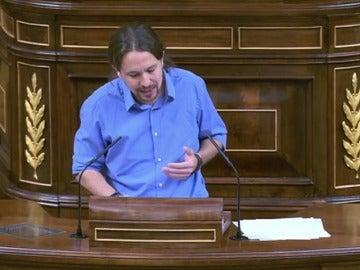 Iglesias felicita a Sánchez por no apoyar a Rajoy
