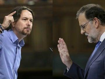 Entre duras críticas y sorprendentes elogios: la relación de 'amor-odio' parlamentaria de Rajoy e Iglesias