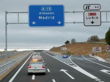 autovía A-15, en Soria, sentido Madrid