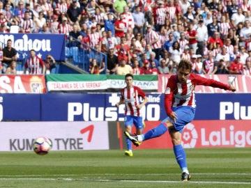 Griezmann, anotando un gol