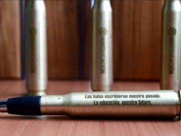 El acuerdo de paz de Colombia se firmará con un 'balígrafo', una bala convertida en bolígrafo
