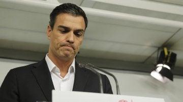 """Pedro Sánchez: """"Si el Comité Federal pasara a la abstención, no podría administrar una decisión que no comparto"""""""