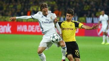 Luka Modric, en el partido ante el Borussia Dortmund