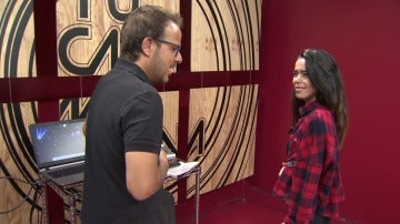 """Beatriz Luengo en el ensayo: """"Me encanta Malú"""""""
