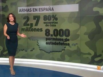 Las diez cifras imprescindibles de la situación de las armas en España