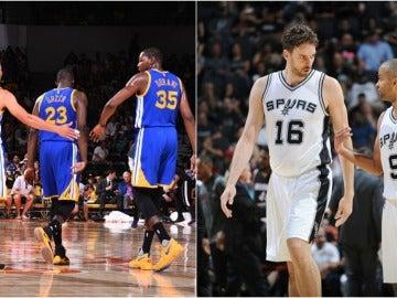 Curry y Durant frente a Pau Gasol y Parker