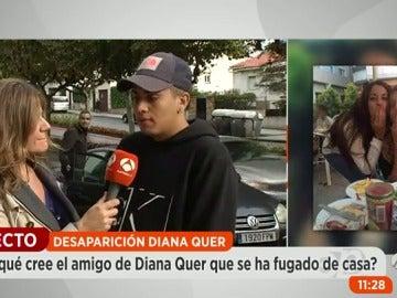 """Un amigo íntimo de Diana Quer: """"Diana podría haberse subido en el coche de algún chico porque es muy confiada"""""""