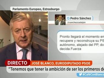 """José Blanco, sobre los díscolos: """"Si uno no está de acuerdo, de la misma forma que entró, puede salir"""""""