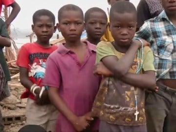 Niños en Haití