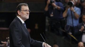 Rajoy durante su discurso en el debate de investidura