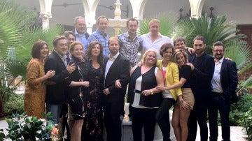 Los actores de 'Allí Abajo' presentan la tercera temporada en Sevilla