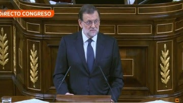 Rajoy en la tribuna