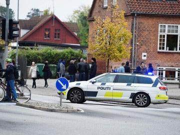Un coche de policía en Dinamarca
