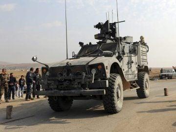 Vehículo de miembros de las fuerzas iraquíes