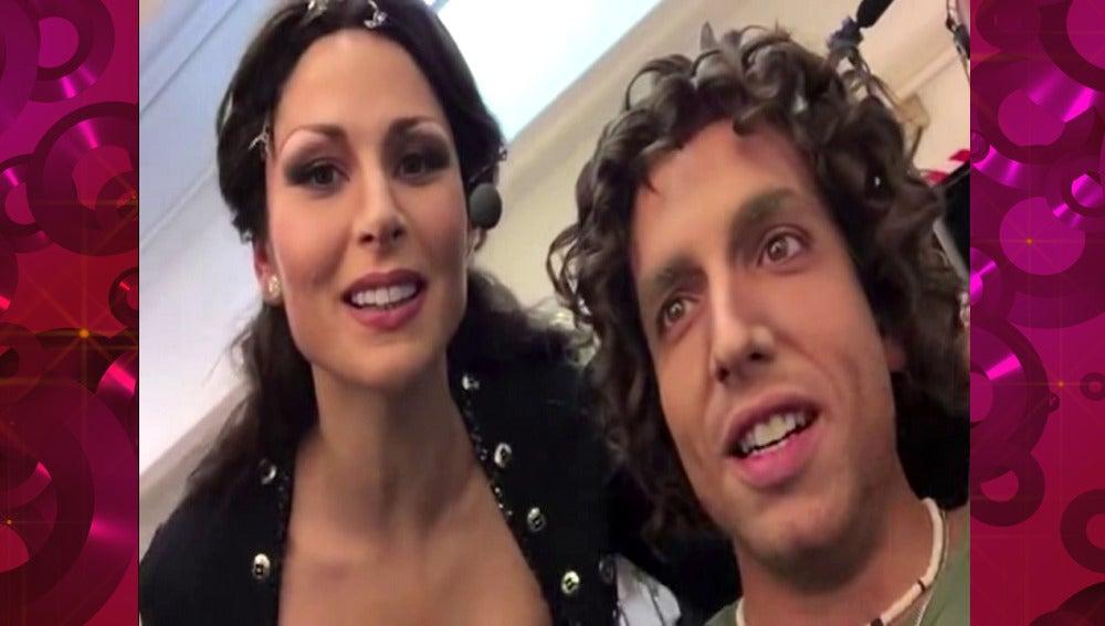 Bisbal y Rosa López hablan de Chenoa entre bambalinas en 'Tu cara me suena'