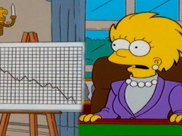 Un país arruinado, la herencia que deja Donald Trump a Lisa Simpson en la presidencia de Estados Unidos