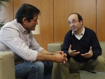 Javier Fernández y Miquel Iceta reunidos