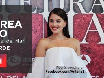Andrea Duro estará en directo en Facebook Live