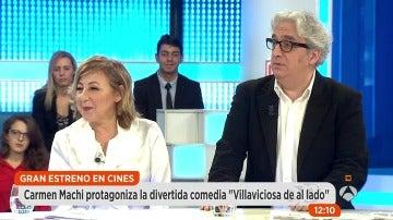 Carmen Machi y Leo Harlem presentan en Espejo Público su nueva película 'Villaviciosa de al lado'