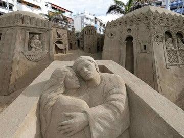 Gran Canaria inaugura el belén de arena más grande de España