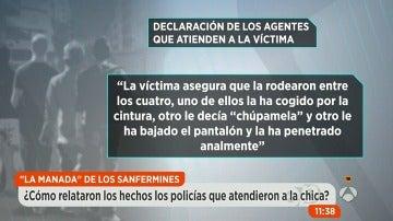 La víctima de los abusos en San Fermín se despertó desnuda después de haber perdido el conocimiento durante la violación