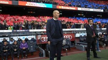 Zidane, en el Camp Nou