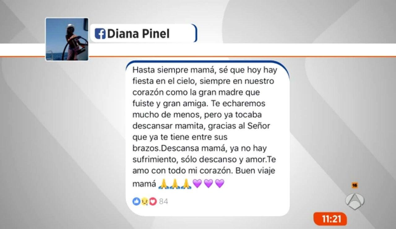 La emotiva despedida de la madre de Diana Quer tras fallecer la abuela de la joven