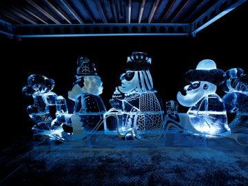 Escultura de hielo de la exposición de Maguncia