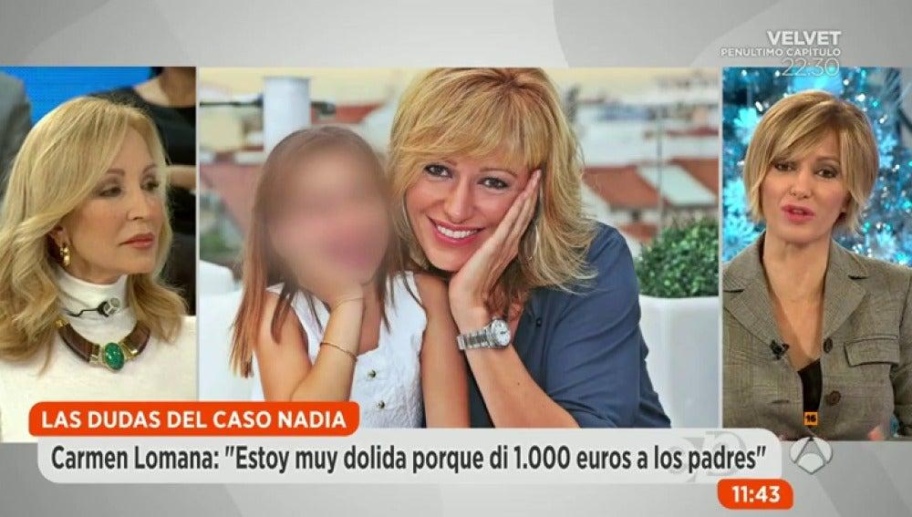 Frame 225.377322 de: Carmen Lomana se siente estafada después de donar 1.000 euros a la causa de Nadia