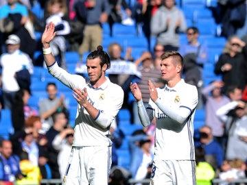 Bale, junto a Toni Kroos