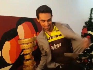 Alberto Contador, con el maillot del Trek
