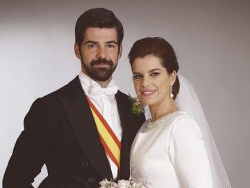 Alonso y Marta, recién casados