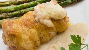 Muslos de pollo rellenos.