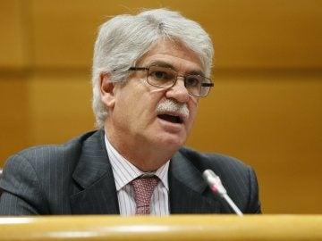 Dastis, ministro de Exteriores, en el Senado