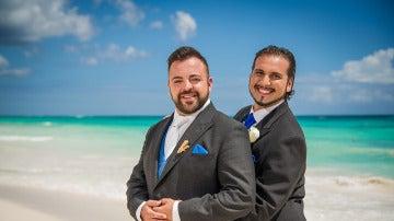 Jesús Macías y Jesús Carrillo, sus primeras fotos de casados