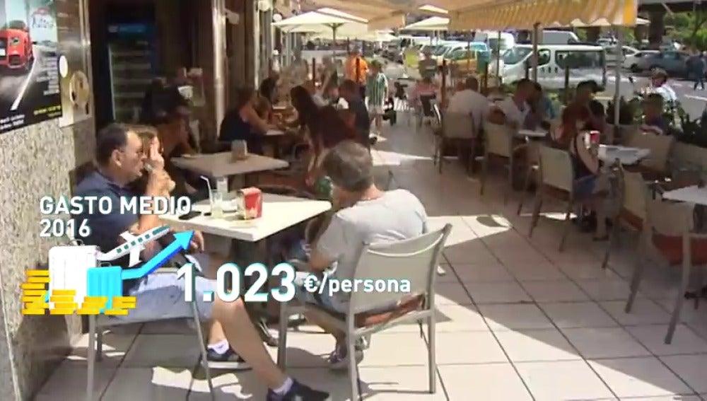 Frame 10.32 de: Los turistas gastaron en España más dinero que nunca: 77.000 millones de euros
