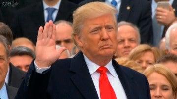 Donald Trump, en la toma de posesión