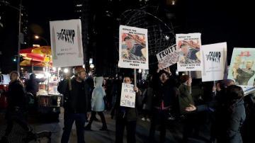 Protestas en Washington contra la investidura de Donald Trump